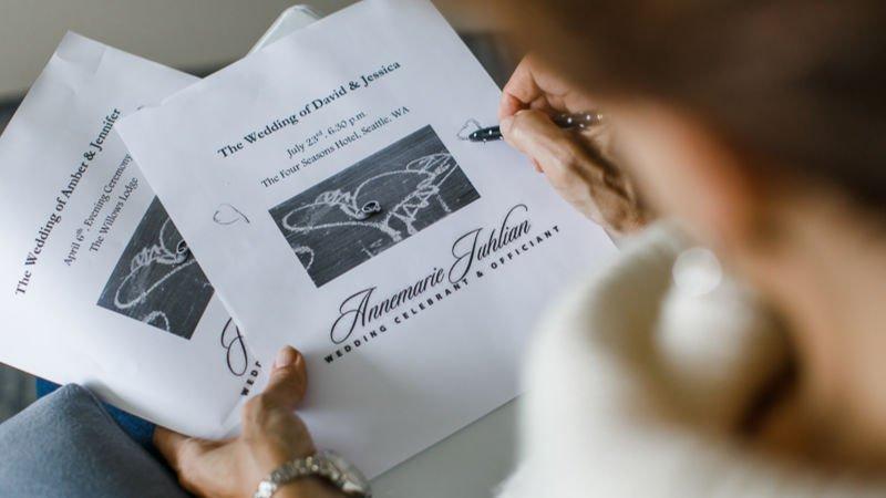 Marriage License - Annemarie Juhlian, Seattle Wedding Officiant