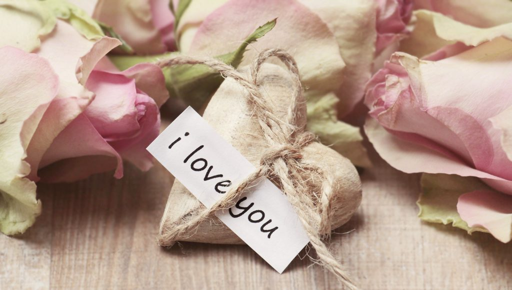 I Love You heart and flowers