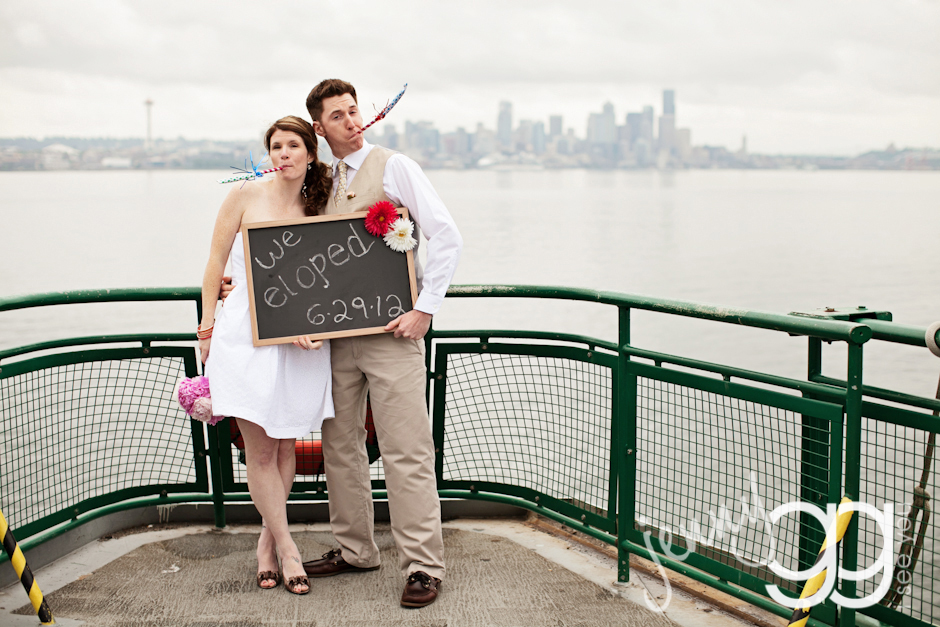 We Eloped on a Ferry!
